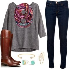 Grey Tunic and Scarf :)