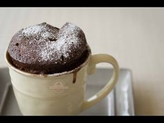 ▶ Mug Cake de Nutella - 2 Minutos en el Microondas - Receta Fácil - YouTube