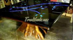 epoxy wood table - YouTube