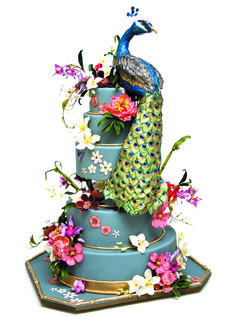 For The Bride magazine- fabulous peacock wedding cake. Absolutely gorgeous!