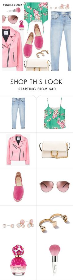 """Daily look"" by dressedbyrose ❤ liked on Polyvore featuring MANGO, Chloé, Castañer, Tory Burch, Michael Kors, Marc Jacobs, Guerlain, Spring, ootd and Dailylook"
