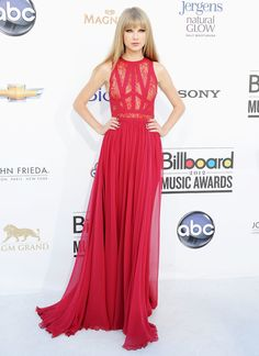 Taylor led the style set in a sexy, siren red Elie Saab number at the 2012 Billboard Music Awards.