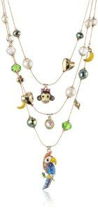"Betsey Johnson ""A Day at the Zoo"" Parrot Illusion Necklace, 19"" $44.86"