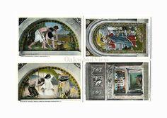 4 Library of Congress Vintage Postcards c1930s, Washington DC, Labor Religion Minerva, Antique Unused Ephemera, Lot 4, FREE SHIPPING $9.75