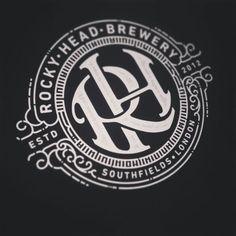 Work in progress. by andreasgrey Vintage Typography, Typography Logo, Logo Branding, Branding Design, Corporate Branding, Brand Identity, Vintage Logos, Monogram Design, Monogram Logo
