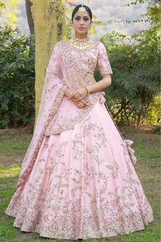 835 Baby Pink Malai Satin Wedding Choli Attractive Gorgeous Look Traditional Occasionally Fashion Party Wear Indian Bride Fashion Heavy Lehenga Choli Singles Wholesale Supplier from Surat in Best Price @ INR Lehenga Wedding, Indian Bridal Lehenga, Indian Bridal Outfits, Pakistani Bridal, Indian Dresses, Bridal Dresses, Pink Bridal Lehenga, Bridal Lehngas, Bridal Lehenga Collection