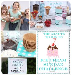 Minute to Win It Ice Cream Sundae Challenge and $100 Sweepstakes
