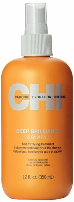 Chi Deep Brilliance Silkeratin 17 Hair Fortifying Treatment, 12 Fluid Ounce