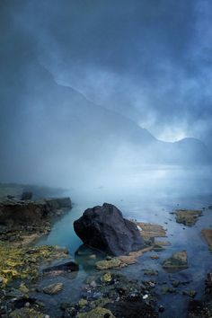 Dawn in Kawa Ijen volcanic crater (the world's largest sulfuric lake), Indonesia  HD Wallpaper From Gallsource.com