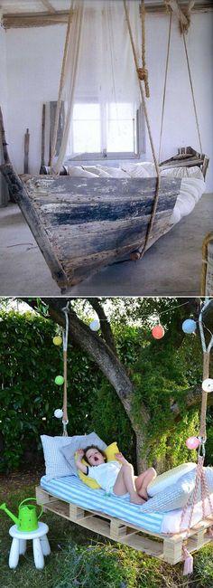 Camas colgantes/ Hanging beds  #recycle design