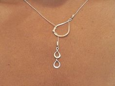 The necklace symbolizes the tears of happiness, relationships and love. Can be ordered also in 14K Gold filled at the same price , You can choose material at check out time. Sterling siver chain with Pure silver handmade Tears. Made to order. Each piece is individually shaped