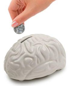 This is an interesting money bank that measures x x 3 inches. The money bank is shaped as a human brain, and comes with nice details made of ceramic, Brain Shape, Brain Based Learning, Money Bank, Gifted Education, Education Fund, Student Success, Learning Styles, School Psychology, Dot And Bo
