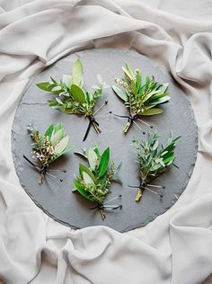 Green Boutonnier's For a Fresh Spring Wedding Look   Lucky in Love Blog