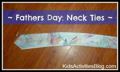 Father's Day DIY neckties! Love!