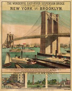 Vintage Brooklyn Bridge #nyc