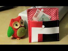 DIY: Kleine Brieftasche nähen - mit nur zwei Nähten - YouTube