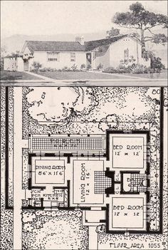 1920 39 s spanish bungalow floor plans google search for Spanish revival home plans