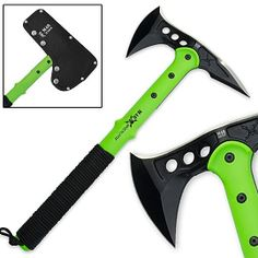 An Advanced Combat Tactical Tomahawk would make for a great close combat weapon for when you need to be silent or your ammo is low.  http://www.trueswords.com/images/prod/c/zombie_apocalypse_tactical_tomahawk_540.jpg