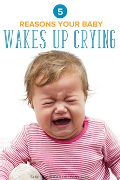 Worried because your baby wakes up crying hysterically all of a sudden? Take a look at common reasons why as well as what to do when your baby is screaming uncontrollably. Crying In Sleep, Baby Crying Face, Kids Sleep, Baby Sleep, Child Sleep, Self Soothing Baby, Crying For No Reason, Thing 1, Sleep Problems