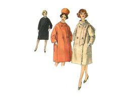 1960s Coat Pattern Simplicity 4670 Bust 32 by omasbricabrac, $12.00
