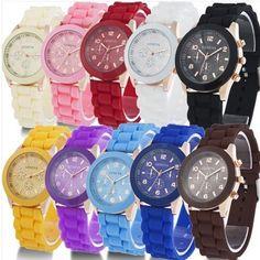2015 NEW!Unisex Geneva Silicone Jelly Gel Quartz Analog Sport Wrist Watch #new #Casual