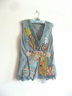 another idea for embellished t-shirt vest