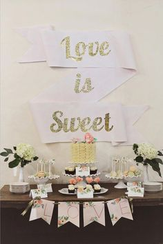 Love this banner backdrop  #lollybuffet #desserttable #wedding