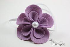 Lavender Felt Flower Headband - Baby Headband- Newborn Headband- Women Headband - Girls Headband on Etsy, $8.00