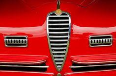 1949 Alfa Romeo 6c 2500 Ss Pininfarina Cabriolet Grille - Car photographs  by Jill Reger