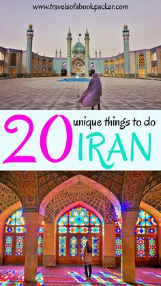 Interested in discovering Iran? Here are 20 incredible things to do in Iran to inspire you to visit this amazing country. From top attractions to food and local experiences. Travel inspiration for visiting Iran. Backpacking Iran // see you in Iran // travel tips to Iran // tips for travelling Iran #iran #travelinspiration #thingstodoiran #seeyouiniran