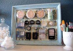 Framed magnet board for make up.