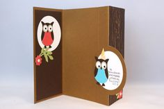 Hooty Birthday Wishes (open) by emarcks - Cards and Paper Crafts at Splitcoaststampers