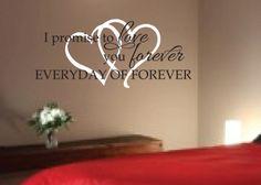 Romantic Sayings Vinyl wall art Master bedroom by WildEyesSigns ...