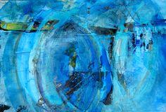 Acryl gegossen, blau