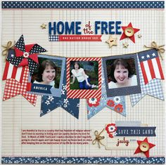 Snippets By Mendi: A Pebbles Inc. Americana Home of The Free Layout