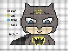 Crochet C2c Pattern, Mini Iron, Batman, Iron Beads, Cross Stitch, Knitting, Canvas, Fictional Characters, Marvel