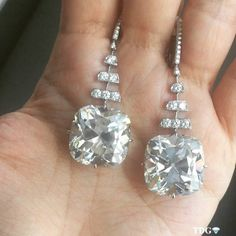 let me know if you like this ARE YOU FOLLOWING @CHAMPAGNEGEM ??? Her pictures from @christiesjewels Geneva sale are incredible! My favorites? These!!!! 60 carats of gorgeousness! Just what I need to complete my look tonight!  -the_diamonds_girl