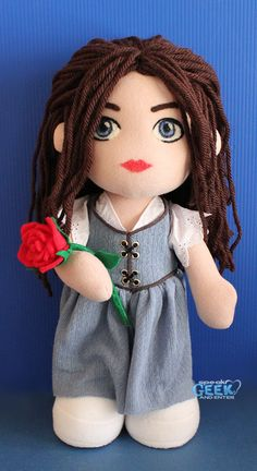 Belle Once Upon A Time Plush Art Doll - READY TO SHIP - One Of A Kind. $175.00, via Etsy.