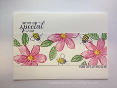 Garden in Bloom Stampin' Up! Garden in full bloom Stampin & # s Above! Bee Cards, Cards Diy, Making Greeting Cards, Stamping Up Cards, Card Sketches, Flower Cards, Homemade Cards, I Card, Stampin Up