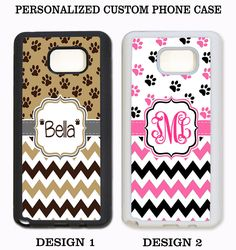 CUTE DOG PAW PRINT CHEVRON MONOGRAM PHONE Case For Samsung Galaxy S7 S6 NOTE 5 4 #UnbrandedGeneric