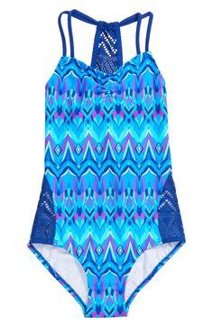 3f968b5ab6191 Gossip Girl Kaleidoscope One-Piece Swimsuit (Big Girls) | Nordstrom