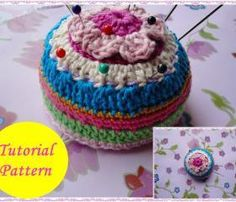 Easy Pincushion Crochet Pattern...use to make floor pillows fr rags