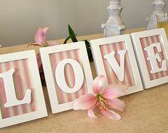 Individuell gerahmte LIEBESBRIEFE - Dekor oder Jahrestag Geschenke Hochzeit