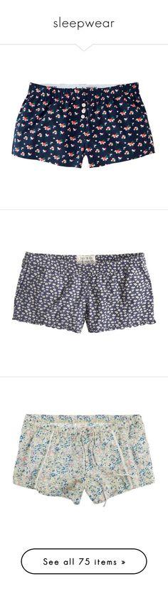 """""""sleepwear"""" by rakshumii ❤ liked on Polyvore featuring sleep, sleepwear, pyjamas, intimates, shorts, pajamas, bottoms, pijamas, navy flor and cotton boxers"""