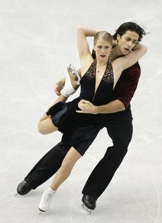 Kaitlyn Weaver and Andrew Poje of Canada compete in the ice dance free dance during day three of the ISU Grand Prix of Figure Skating Final 2013/2014 at Marine Messe Fukuoka on December 7, 2013 in Fukuoka, Japan.
