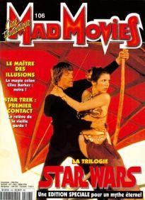 Mad Movies n°106, mars 1997.  LES FILMS :  Star Wars, Le Maître des Illusions Star Wars édition spéciale . Interviews George Lucas, Clive Barker.