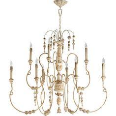 Quorum International Salento Persian White Nine Light Chandelier On SALE