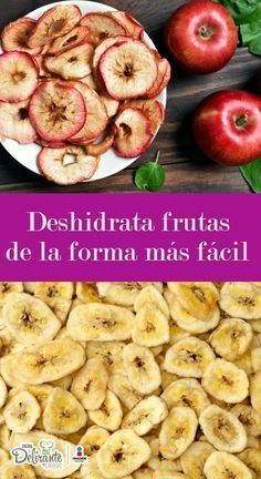 como deshi las frutas y verduras Raw Food Recipes, Veggie Recipes, Vegetarian Recipes, Cooking Recipes, Healthy Recipes, Dehydrated Food, Granola, Food Hacks, Healthy Snacks