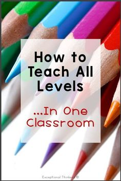 Providing differentiated instruction for diverse learners with different ability levels and individual student needs at the same time can seem overwhelming, but there are techniques that can make it more manageable. Use these tips for centers and classroom management in elementary classrooms, middle school, and high school. Apply these classroom management strategies for special education or general education classes.