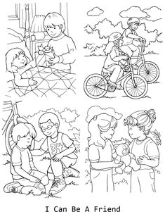 I can be a friend coloring page for lesson 33